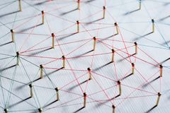 Zazębianie jednostki Sieć, networking, ogólnospołeczni środki, łączliwość, internet komunikaci abstrakt Sieć cienka nić zdjęcie stock