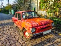 Zaz-968M Zaporozhets-rood royalty-vrije stock afbeelding