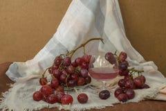 Zazębiony Czerwony Gronowy sok Fotografia Royalty Free