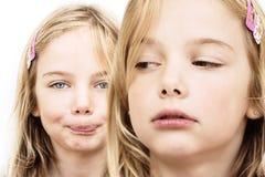 zazdrości rywalizaci rodzeństwo Obrazy Royalty Free