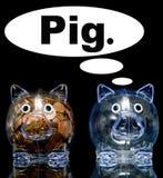 zazdrosny świnia royalty ilustracja