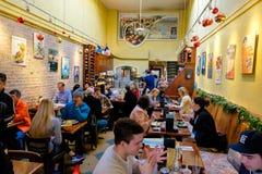 Zazie咖啡馆旧金山 库存图片