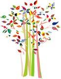 zaznacza drzewa różnorodnego Obrazy Stock