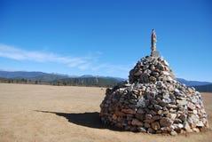 zaznacza kamieniarstwo modlitwę Zdjęcia Royalty Free