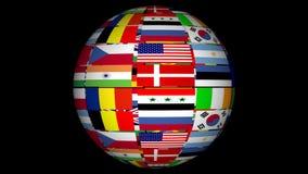 zaznacza kula ziemska świat royalty ilustracja