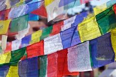 zaznacza modlitewnego tibetan Zdjęcie Royalty Free