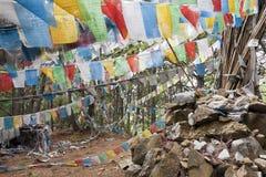 zaznacza modlitewnego tibetan Fotografia Stock