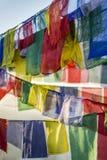 zaznacza Nepal modlitwy tibetan Obrazy Royalty Free