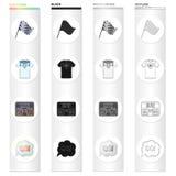 Zaznacza, sporty, symbol i inna sieci ikona w kreskówka stylu, Trenujący, osiągnięcie, symbol ikony w ustalonej kolekci ilustracji