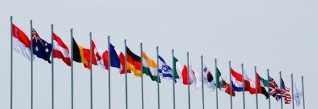 zaznacza zawody międzynarodowe Obraz Stock