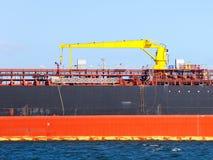 Zaznaczający na statek stronie obraz stock
