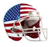 Zaznaczający usa futbolu amerykańskiego hełm obrazy royalty free