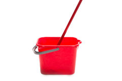 Zazzera e secchio rossi Fotografia Stock Libera da Diritti