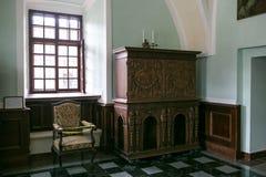 Zbarazh,乌克兰- 2017年7月06日:城堡内部在Zbarazh,捷尔诺波尔地区 免版税库存图片