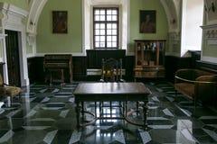 Zbarazh,乌克兰- 2017年7月06日:城堡内部在Zbarazh,捷尔诺波尔地区 免版税图库摄影