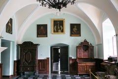 Zbarazh,乌克兰- 2017年7月06日:城堡内部在Zbarazh,捷尔诺波尔地区 库存照片