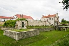 Zbarazh,乌克兰- 2017年7月06日:对堡垒的主要看法在Zbarazh,捷尔诺波尔地区,西部乌克兰(城堡全景) 库存照片