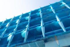Zbawcza błękit sieci budynku budowa Fotografia Royalty Free