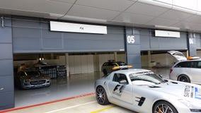 Zbawczego samochodu Brytyjski uroczysty prix Silverstone fotografia royalty free