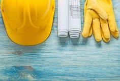 Zbawczej nakrętki inżynierii rysunków rzemienne ochronne rękawiczki dalej zalecają się Obrazy Royalty Free