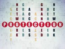 Zbawczy pojęcie: Ochrona w Crossword łamigłówce Zdjęcie Stock