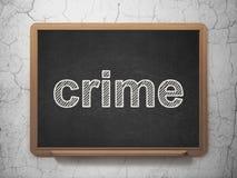 Zbawczy pojęcie: Przestępstwo na chalkboard tle ilustracji