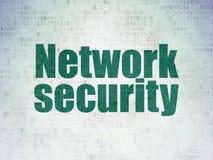 Zbawczy pojęcie: Sieci ochrona na Digital papierze Zdjęcie Stock