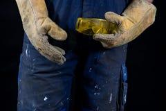 Zbawczy szkła dla pracowników budowlanych i locksmiths Protecti Obraz Royalty Free