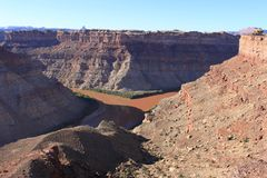 Zbieżność Zielona rzeka i Kolorado Obrazy Royalty Free
