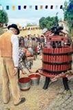 Zbierać winogrona: festiwal gronowy żniwo Fotografia Stock