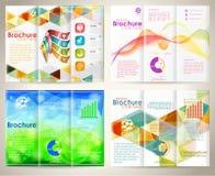Zbiera broszurka projekta szablon Obrazy Royalty Free
