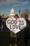 Małżeństwo wiec Przy USA sądem najwyższy Fotografia Stock