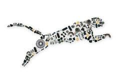 Zbierający wiele dodatkowymi częściami jaguar Obraz Stock