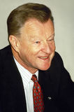 Zbigniew Brzezinski. Former National Security Advisor for President Jimmy Carter, participates in a conference in Jerusalem, Israel, in 1988. He was professor royalty free stock images