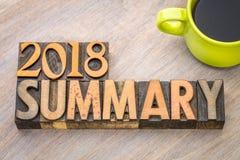 2018 zbiorczych słów abstraktów w drewnianym typ Obraz Stock