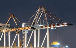 Zbiorników statki Rozładowywa Przy nocą Fotografia Stock