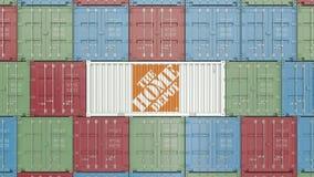 Zbiornik z Home Depot korporacyjnym logo Redakcyjna 3D animacja zdjęcie wideo