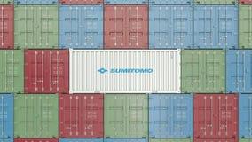 Zbiornik z Sumitomo korporacyjnym logo Redakcyjna 3D animacja zdjęcie wideo