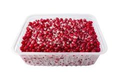 Zbiornik zamarznięte jagody, czerwoni rodzynki Zdjęcie Stock