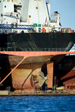 zbiornika doku suchy schronienia statek Zdjęcie Royalty Free
