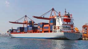 zbiornika Gdansk Poland portu statek Obraz Royalty Free