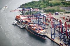 zbiornika Gdansk Poland portu statek Obrazy Stock