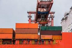zbiornika Gdansk Poland portu statek Zdjęcie Royalty Free