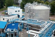 zbiornika przemysłowy oleju srebro Zdjęcie Royalty Free