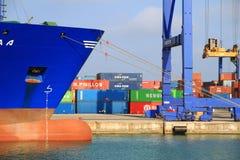 Zbiornika statek Cincia A dokował w zbiornika terminal Zdjęcie Stock