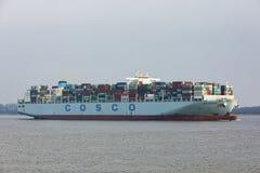 Zbiornika statek COSCO DANI Obrazy Royalty Free