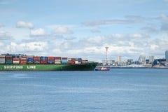 Zbiornika statek przyjeżdża w Seattle, Waszyngton, usa Obrazy Stock