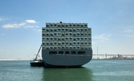 Zbiornika statek w Rotterdam schronieniu Zdjęcia Royalty Free