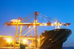 Zbiornika statek w schronieniu Obraz Royalty Free