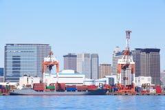 Zbiornika statek w schronieniu Zdjęcie Stock